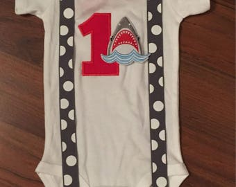 Shark 1st birthday, Boys birthday outfit, Baby boy first birthday, shark party, Baby boy second birthday, shark cake smash