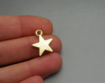 SET of 10 charms Gold Star (S23)