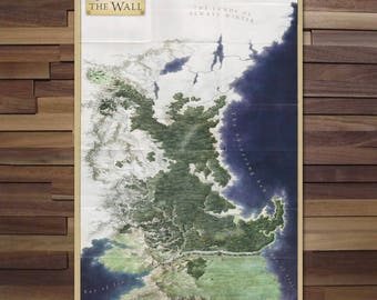Game of Thrones: North of the Wall Map - Poster - Canvas