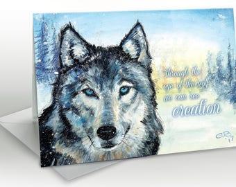 Spirit Wolf -  A5 Greetings card