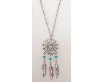 Feather Dreamcatcher charm necklace