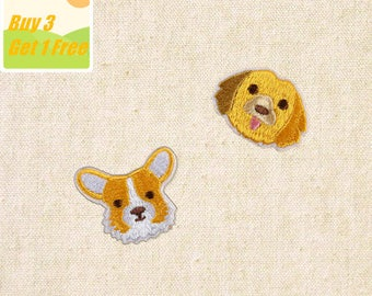 2pcs Dog Iron on Patch, Dog Embroidered Patch- Size 1.77'' W x 1.77'' H