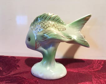 Vintage Hungarian porcellain Hollohaza FISCH figurines-Porcelain fish figurine