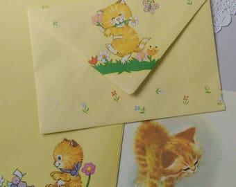 Pen Pal Kit - Stationery Set - Snail Mail - Happy Mail - Cat Lover Stationery # 1