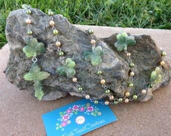 Marble Irish Shamrock Handmade Fashion Rosary