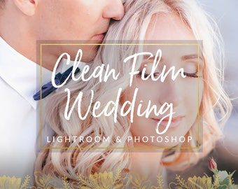 Clean Film Wedding Lightroom Presets & Photoshop Filters for Photographers
