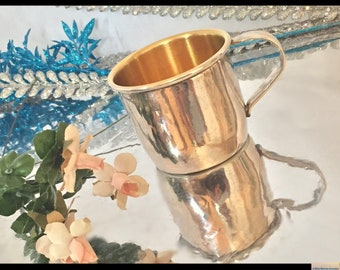 Vintage Baby Cup, Flair 1847 Rogers Bros. Silver Plated Baby Cup, Metal Baby Cup, ElectroPlated Copper, Baptismal Infant Cup Christening Cup