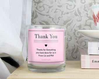 Personalised Classic Pink Scented Jar Candle Gifts Ideas For Thank You Presents Favours Her Girls Womens Birthday New Home House Warming