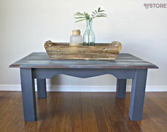 AVAILABLE - Boatwood Inspired Coffee Table
