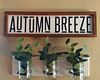 Autumn Breeze - Fall Sign With A Little Bohemian Flair