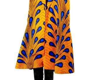 African Print Oversized Coat