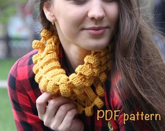 Scarf crochet pattern scarf pattern PDF cowl pattern neck warmer easy pattern beautiful pattern easy pattern cotton scarf pattern DIY gift 1