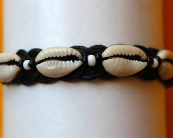 African braided adjustable bracelet with African Cowrie Shell Adjustable Bracelet Hippie cowrie shells