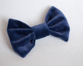 Velvet Dog Bow Tie   Wedding Bow Tie   Christmas Bow Tie   Navy Bow Tie   Gift For Pet   Luxury Dog Gift   UK   Cat Bow Tie   Dog Costume