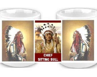 Chief Sitting Bull Native American coffee mug