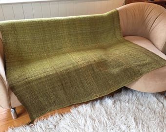 Handwoven green blanket