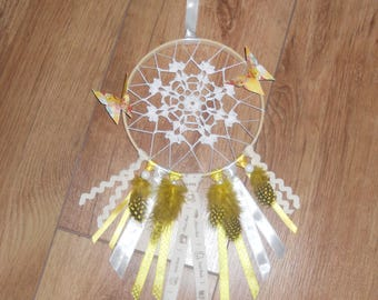 Dream catcher Sun on embroidery hoop