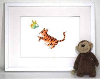 Jungle Nursery Decor, Nursery Decor, Nursery art Prints, baby tiger