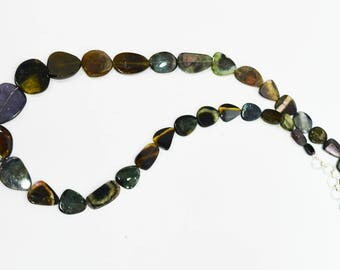 Natural Multi Tourmaline Slices Necklace / 6.0-16.0mm / Tourmaline Slices beads / 18 inch