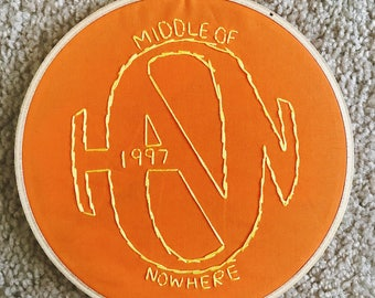 Middle of Nowhere (Hanson) Embroidery Wall-Hanging