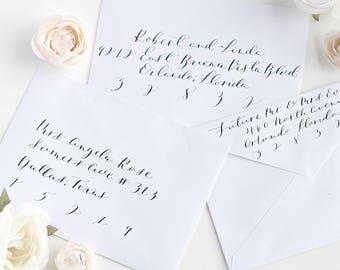 Custom Calligraphy Envelope Addressing. Sobres invitaciones de Boda