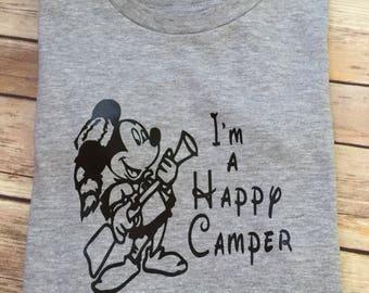 Happy Camper Shirt * Fort Wilderness Campground * Mickey Mouse Shirt * Disney Shirt * Disney Onesie