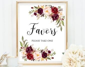 Wedding Favors Decor, Favor Sign, Wedding Favors Sign, Floral Favors Printable, Bridal Shower Sing, Favors Sign,Floral Favor Sign