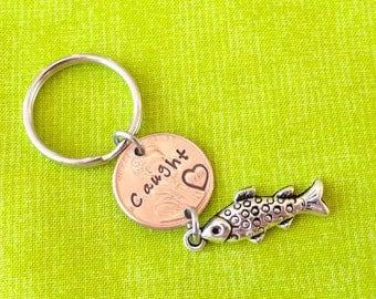 Custom Caught Penny Keychain.