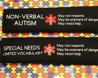 Seatbelt Cover/Autism/Medical Alert Seatbelt Cover
