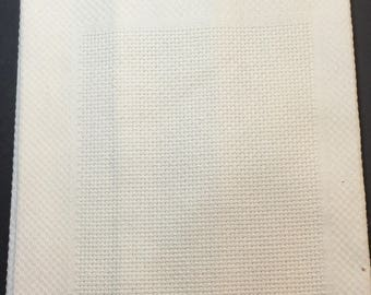Showcase Huck Towel Off-White. Can be Cross Stitched or Embroidered. Charles Craft.  100% Cotton