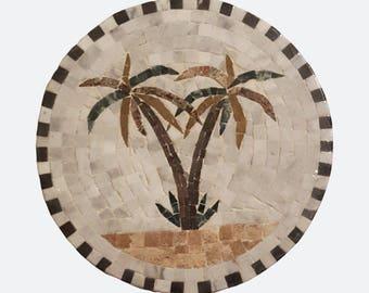 Mosaïque tunisienne Palmier dattier