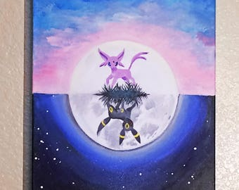Canvas - Reversible Umbreon and Espeon