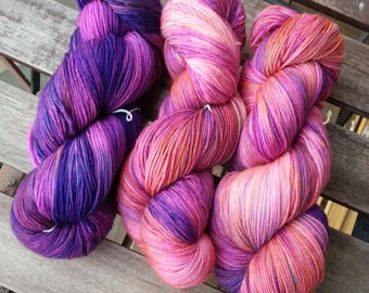 Theodora - Hand dyed sock yarn