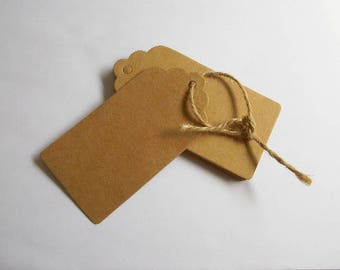 20 kraft tags Favor tag weding decoration Handmade gift card