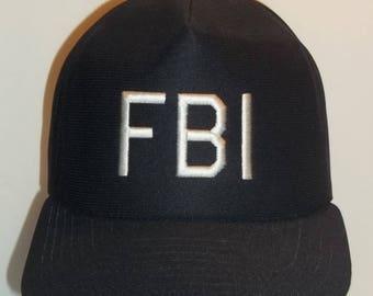 Vintage Hats New Era Hat Snapback Trucker Hat FBI Police Law Enforcement Baseball Cap Black And White Mesh Snap Back Hats T32 MA7198