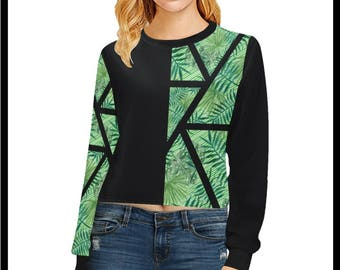 The Calm Palm Cropped Pullover Sweatshirt