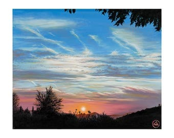 Art - Sunset - Cleeve Hill - 347 x 290