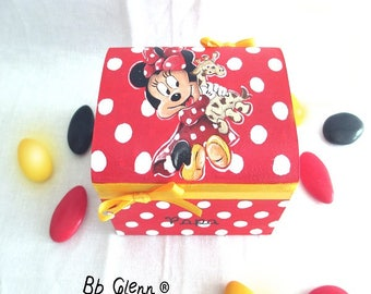 """Box dragees, baptism """"Minnie Mouse"""""""