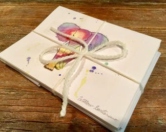 Elephant Notecards | Animal Thank You Notes | Original Art Notecards| Colorful Notecards| Elephant Thank You Notes