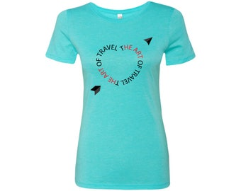 Heart for Travel Triblend Women's Crew Tee