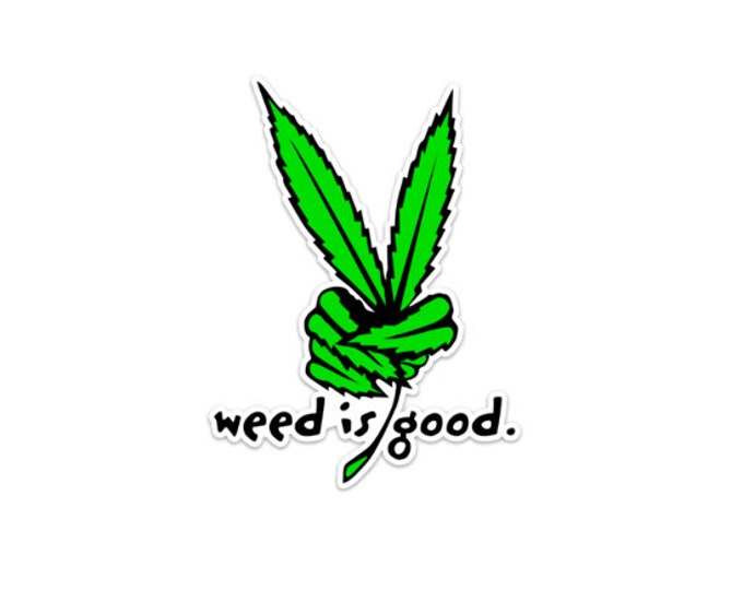 Peace Weed Leaf Sticker High Quality Funny Weed Sticker and Marijuana Accessories Weed Stickers