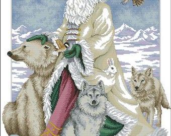 Polar Bear Santa Cross Stitch Pattern***LOOK***