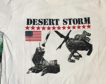 Vintage 90's Desert Storm war Iraq USA size S t shirts