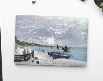 "Claude Monet, ""The Beach At Sainte Adresse"". Macbook Pro 15 skin, Macbook Pro 13 skin, Macbook 12 skin. Macbook Pro skin. Macbook Air skin."
