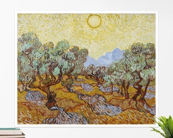 "Vincent Van Gogh, ""Olive Trees"". Art poster, art print, rolled canvas, art canvas, wall art, wall decor"