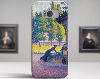 "Paul Signac, ""Fontaine Des Lices"". Samsung Galaxy Note 8 Case Google Pixel XL Case LG G6 case Galaxy A3 2017 Case and more."