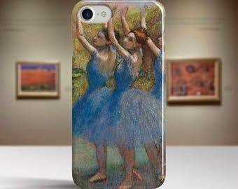 "Edgar Degas, ""Three Dancers in Purple Skirts"". iPhone 6 Case Art iPhone 7 Case iPhone 8 Plus Case and more. iPhone 6 TOUGH cases."
