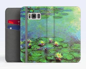 "Claude Monet, ""Water Lilies"". Samsung Galaxy S8 Wallet case. Samsung S7 wallet case. Samsung S6 wallet case. iPhone Wallet cases."