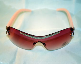 JIMMY CRYSTAL Sunglasses woman with SWAROVSKI GL-953-Pink. Brand new. Sunglasses lady. From trade settlement. Glasses girl