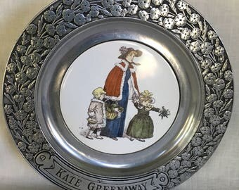 KATE GREENAWAY 1973  Collector's Plate  11""